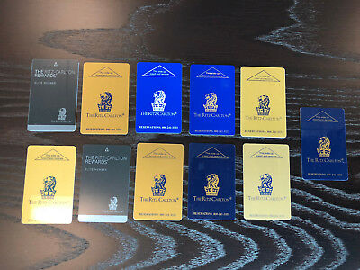 Outstanding Ritz Carlton Hotel Key Card Collection - Eleven 11 Keys!