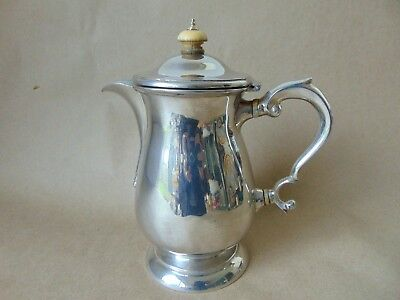 Victorian sterling silver Coffee /hot water pot 1898, 385 grams,Mappin Brothers