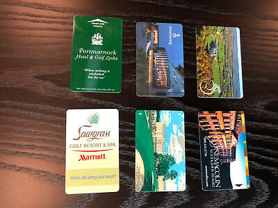 Golf Resort Hotel Key Card Collection - TPC Sawgrass, Streamsong, Ireland & More