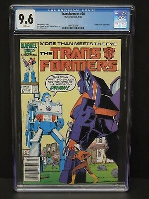 Marvel Transformers #20 1986 Cgc 9.6 White Pages Robot Master App Newsstand