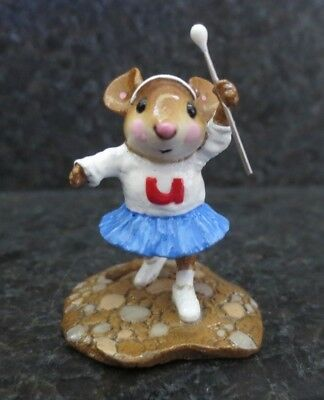 Wee Forest Folk Mouse Parade Majorette WFF MP- 6 MP6 Collectible Figurine w/ Box