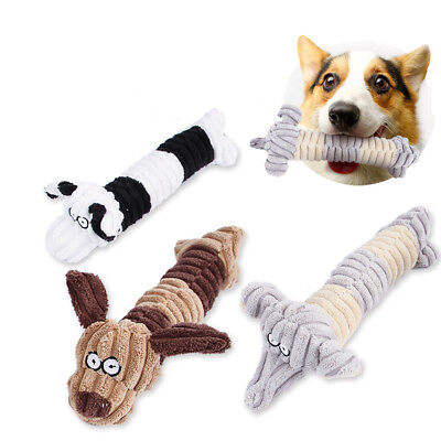 Resistant Dog Chew Bite Toy For Large Medium Pet Squeaky Plush Toys Supplies