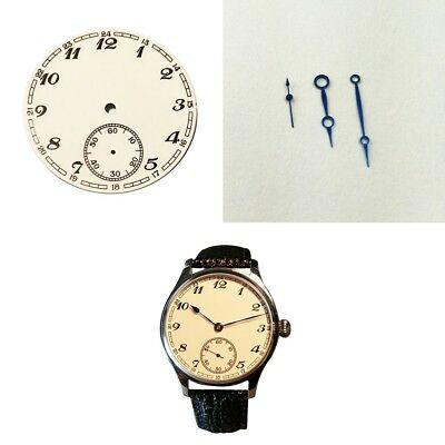 38.9mm White Dial Dial Blue Hands for ETA 6498 ST3620 Mens Watch (Dial+Hands)