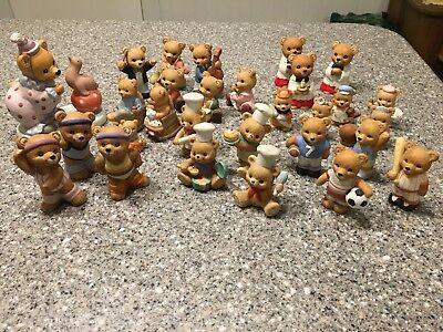 HOMCO bear figurines. Lot Of 29. Exercise, Bakers, Church Choir, Sports, Band...