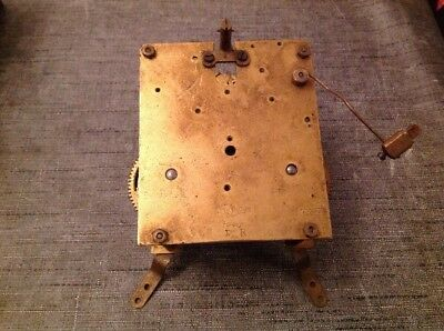 Antique Clock Movement Chiming x10cm Plates  For Spare Parts Repair