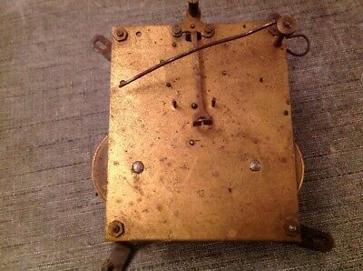 Antique Clock Movement Chiming 8x10cm Plates  For Spare Parts Repair