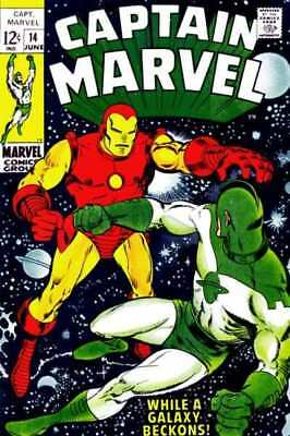 Captain Marvel (1968 series) #14 in Fine + condition. Marvel comics