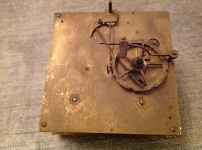 Antique Clock Movement  Winterhalder and Hofmeier Chiming 12cm Plates Untested