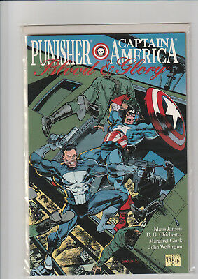 Blood and Glory [Punisher / Captain America] #1 (Oct 1992, Marvel) NM embossed