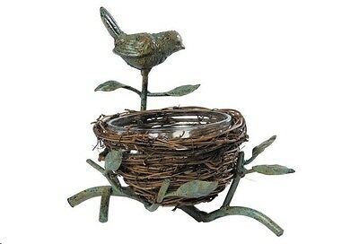 Bird Nest Stand with Glass Bowl By American Retold  ~ NWT
