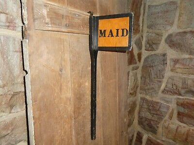 1940s RARE OLD ORIGINAL EARLY HOTEL ''MAID'' WOOD SIGN VINTAGE ANTIQUE HOUSEKEEP