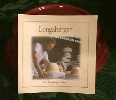 New Longaberger Woven Traditions Candle Holder/candle Paprika