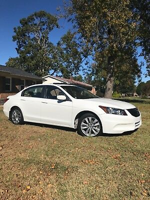 2012 Honda Accord  2012 Honda Accord EXL pear white
