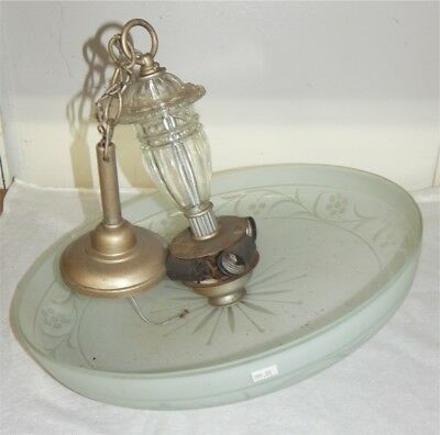 Antique Art Deco Frosted Ceiling Shade with Collar Stunning