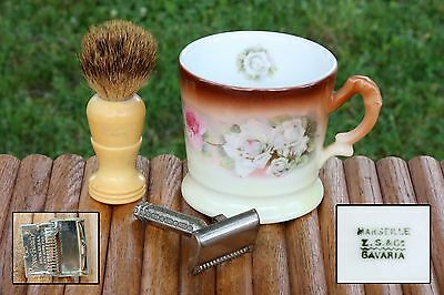 Vintage EverReady Shaving Safety Razor~Brush~ Marseille Bavarian Shaving Mug