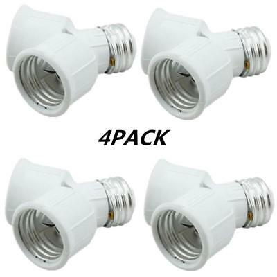 Twin Socket Adapte, Light Bulb Socket Splitter For LED, CFL and Standard Bulbs,