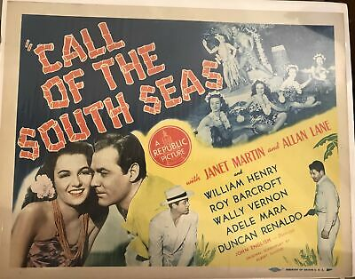 """Lobby Cards """"Call of the South Seas"""" Set of 8"""