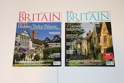 BRITAIN The Official Magazine Lot of 2 Tudors Cotswolds EUC Free Priority Ship!