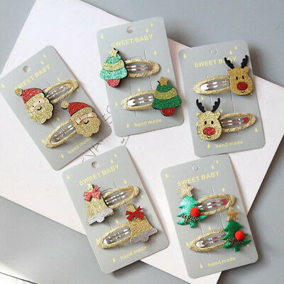 Lot Women Girl Cute Christmas Hairpins Hair Clip Bands Cartoon Headwear Kid Gift