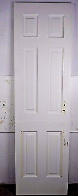 "Antique Vintage 6 Panel Interior Dutch Door 77-1/4"" X 22-1/4"" 1940's Local P/U"