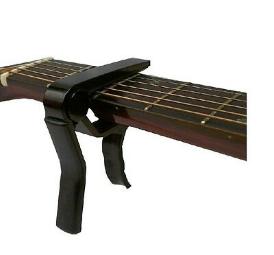 Black Quick Change Single-handed electric / acoustic 6-string Guitar Capo Tuner