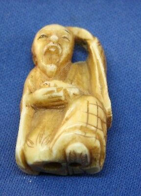 Vintage Asian Japanese Netsuke, marked on bottom