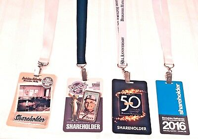 Lot of 4 Berkshire Hathaway Meeting Credentials   2013 2014 2015 2016  Free Ship