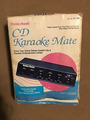 Radio Shack CD Karaoke Mate 32-1153 Vocal Remover System From Music!