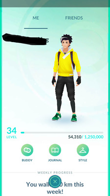 Pokemon-Go-account Level 34 - 1M+ Stardust - Email Changeable - Choose Team