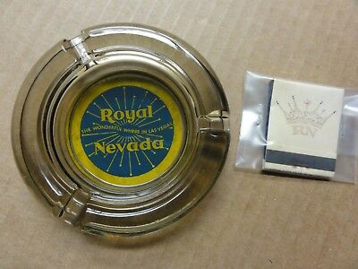 Rare Royal Nevada Hotel/Casino Ashtray & Full Book/Front Strike Matches