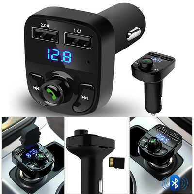 Wireless BT Handsfree Car Kit FM Transmitter MP3 Player Dual USB Charger