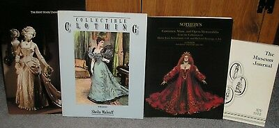 Lot of 4 Books on Museum Fashion Collections, Opera Costumes and Collecting