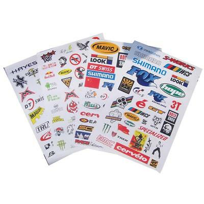 1 Sheet Car Bicycle Cycling Sticker MTB Bike Vouge Skateboard Decal Stickers