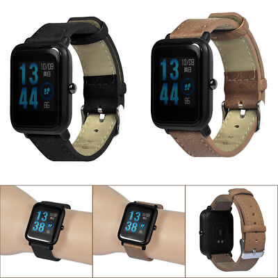 Replacement Bracelet Leather Band For Xiaomi Huami Amazfit Bip Youth Watch #a