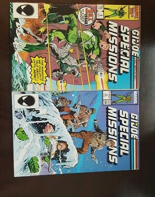 Lot of 2 G.I. Joe Special Missions comic books #1 and  #6