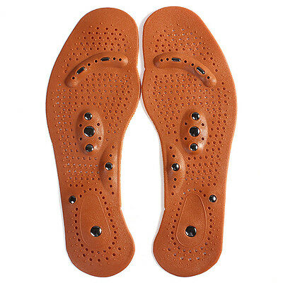 Healthy Foot Feet Care Magnetic Therapy Massage Insole Shoe Boot Thenar Pad