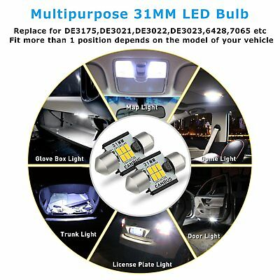 AUXITO 2x CANBUS 31MM LED Festoon Bulbs 3020 SMD Car Reading Lamp Dome Light