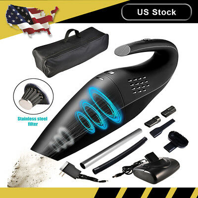 Car Vacuum Cleaner Cordless 12V Wet Dry Portable Handheld Duster Rechargeable