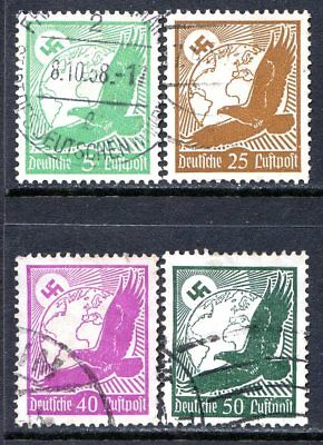 Germany Air Post Stamps Scott C46-C52, 4-Stamp Used Partial Set!! G2005b