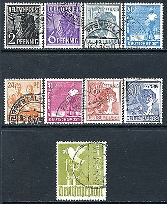 Germany Postage Stamps Scott 557-574, 9-Stamp Used Partial Set!! G1624a