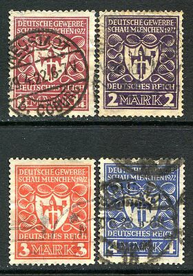 Germany Postage Stamps Scott 212-215, Used Partial Set!! G1508