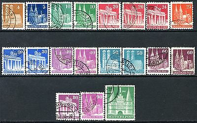 Germany Postage Stamps Scott 635a-658, 19-Stamp Used Partial Set!! G1625a