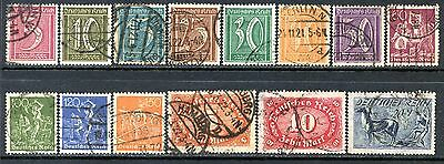 Germany Postage Stamps Scott 137-155, 14-Stamp Used Partial Set!! G1511a