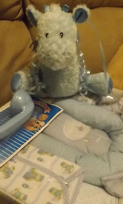 Baby Shower 8 piece Gift Set / Blue Gift Basket for a Baby Boy - NEW*