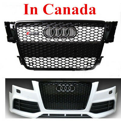 RS5 style Gloss Black Mesh Grill Front Grille for Audi A5 S5 RS5 8T 2008-2012 CA
