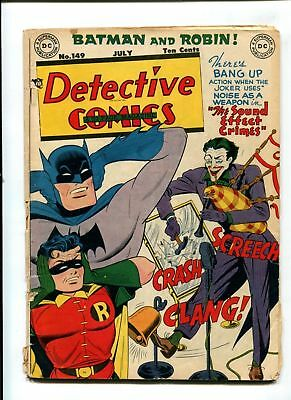 DC COMICS DETECTIVE BATMAN Golden age 3.0 VG- 149 joker cover story 1949