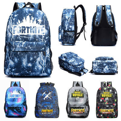 Youth Bag Fashion Trend Fortnight Game Night Luminous Backpack Campus For Unisex