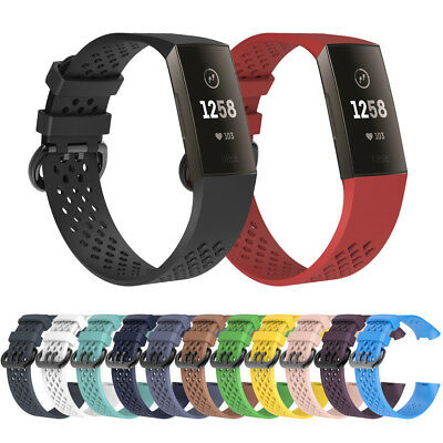 For Fitbit Charge 3 Replacement Band Silicone Watch Band Bracelet Wrist Strap