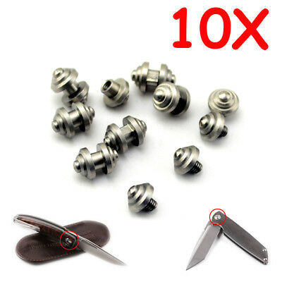 10PCS Stainless Steel Folding Knives Flipper Opening Screw Push Knife Button DIY