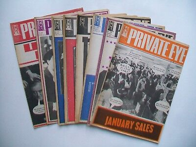 """Private Eye"" 8 issues 1977"